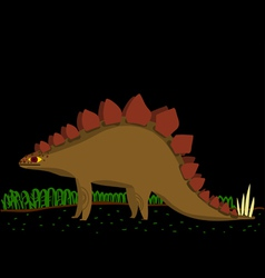 cartoon stegosaurus vector image vector image