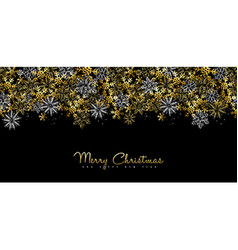 Christmas and New Year gold social media cover vector image