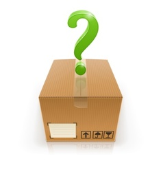 closed box with question mark vector image vector image