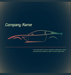 concept street sportscar vector image
