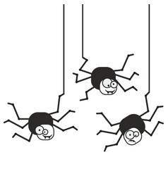 crazy spider icon vector image