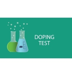doping test dope concept with vector image vector image