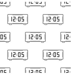 electronic watch black and white seamless pattern vector image vector image