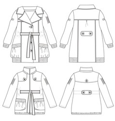 Girls coat and jacket vector image vector image