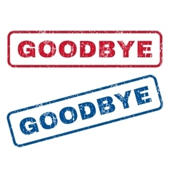 Goodbye rubber stamps vector