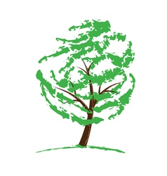 green tree drawing vector image