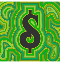 groovy money vector image