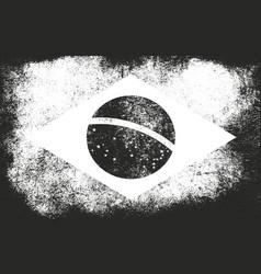 grunge brazil flag vector image