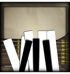 guitar and piano keys in the form of fingers vector image