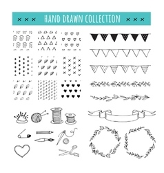 Handmade crafts workshop icons patterns vector image vector image