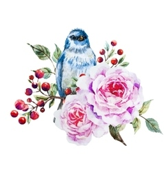 Nice watercolor birds vector