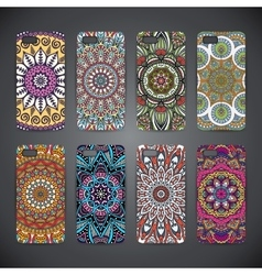 Phone case colorful floral pattern vector image vector image