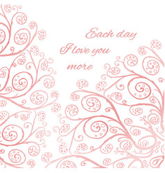 pink greeting card template vector image vector image