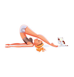 plow pose funny cartoon character vector image