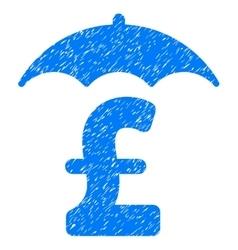 Pound finances roof grainy texture icon vector