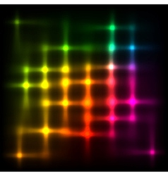 Rainbow disco lights abstract background vector