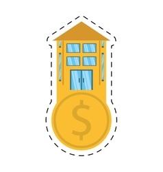 Real estate business finance money cut line vector