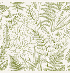 Seamless pattern with leaves vector