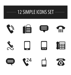 set of 12 editable device icons includes symbols vector image
