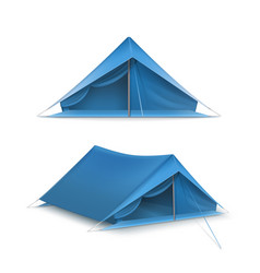 Set of ttourist tents vector
