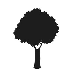 Silhouette tree woody nature dark stem design vector
