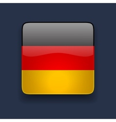 Square icon with flag of germany vector