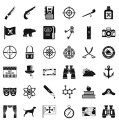 Travel in nature icons set simple style vector