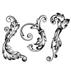 Vintage floral elements vector image vector image