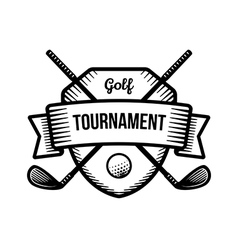 Golf sport tournament logo vector image
