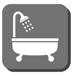 Shower bath rounded square icon vector