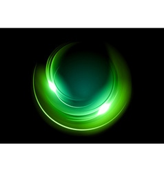 Abstract circle dark green vector