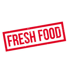 Fresh food rubber stamp vector