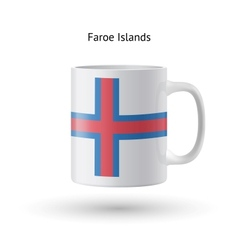 Faroe islands flag souvenir mug on white vector