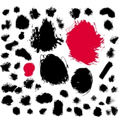 Paint brush spots vector