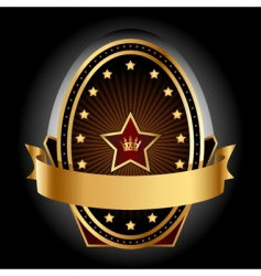 Gold insignia vector