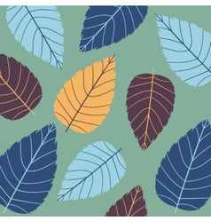 Colored seamless pattern on leaves theme autumn vector