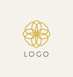 Hipster logo template vector