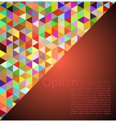 Red abstract geometrical background vector