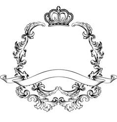 vintage aluminum frame vector image