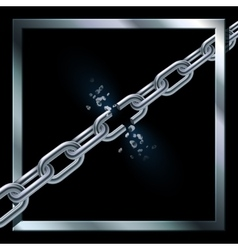 Metal broken chain vector