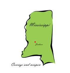 State of Mississippi vector image