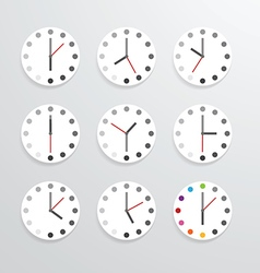 Clock flat icon app vector image