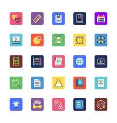 School and Education Colored Icons 2 vector image