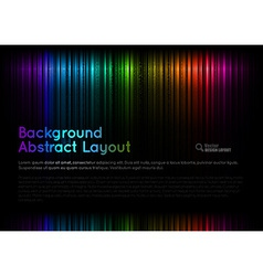 Abstract rainbow layout vector