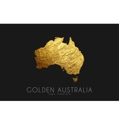 Australia map Golden Australia logo Creative vector image vector image