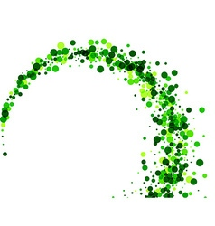 Background with green drops vector image