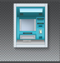bank cash machine atm - automated teller machine vector image