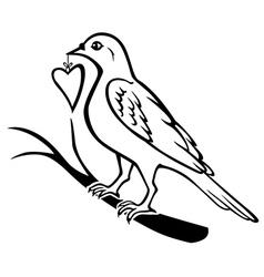 bird heart vector image vector image