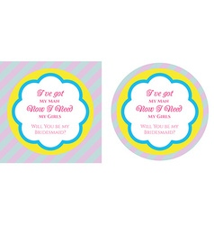 Bridesmaid invitation vector