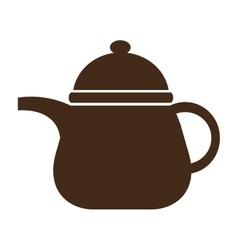 brown kettle front view graphic vector image